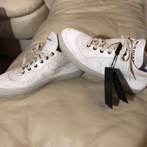 White Authentic Burberry Sneakers